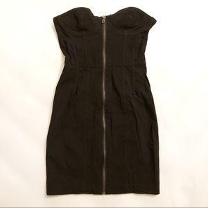 NWOT H&M Strapless Bodycon Black Mini Dress sz 2